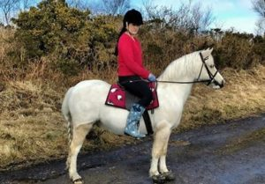 Sam Davies and her Welsh Pony